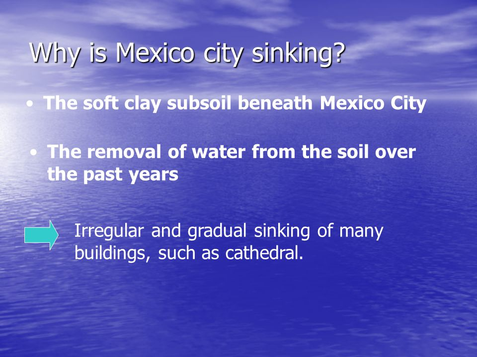 Why is Mexico city sinking
