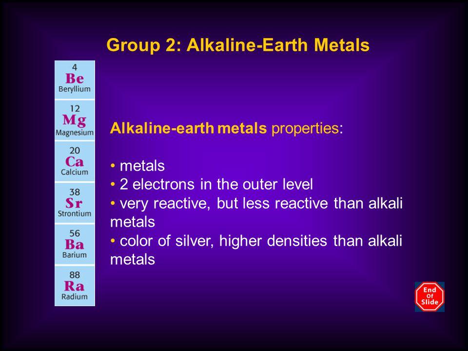 Group 2: Alkaline-Earth Metals