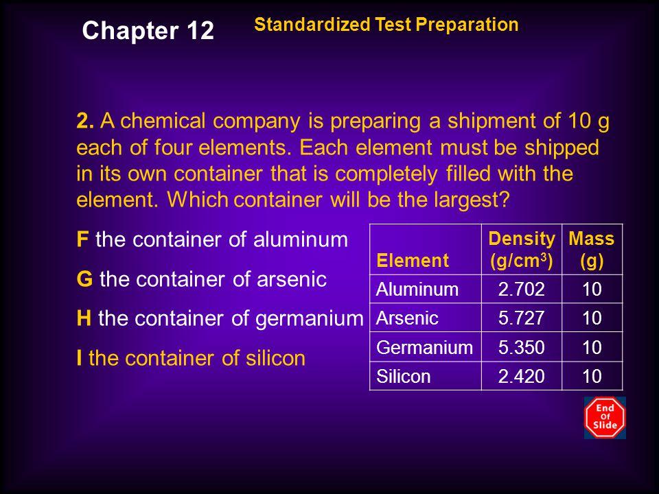 Chapter 12 Standardized Test Preparation.