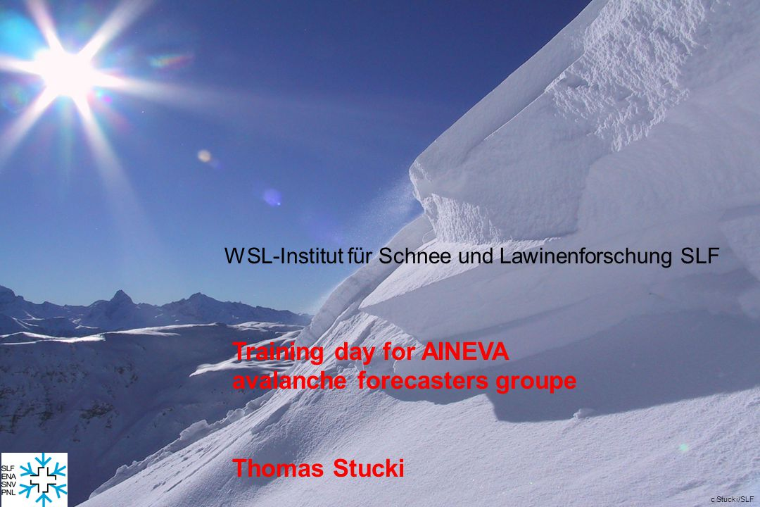 Training day for AINEVA avalanche forecasters groupe