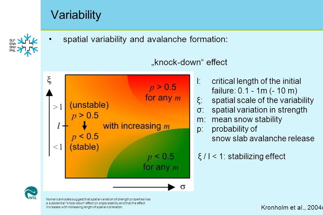 Variability spatial variability and avalanche formation: