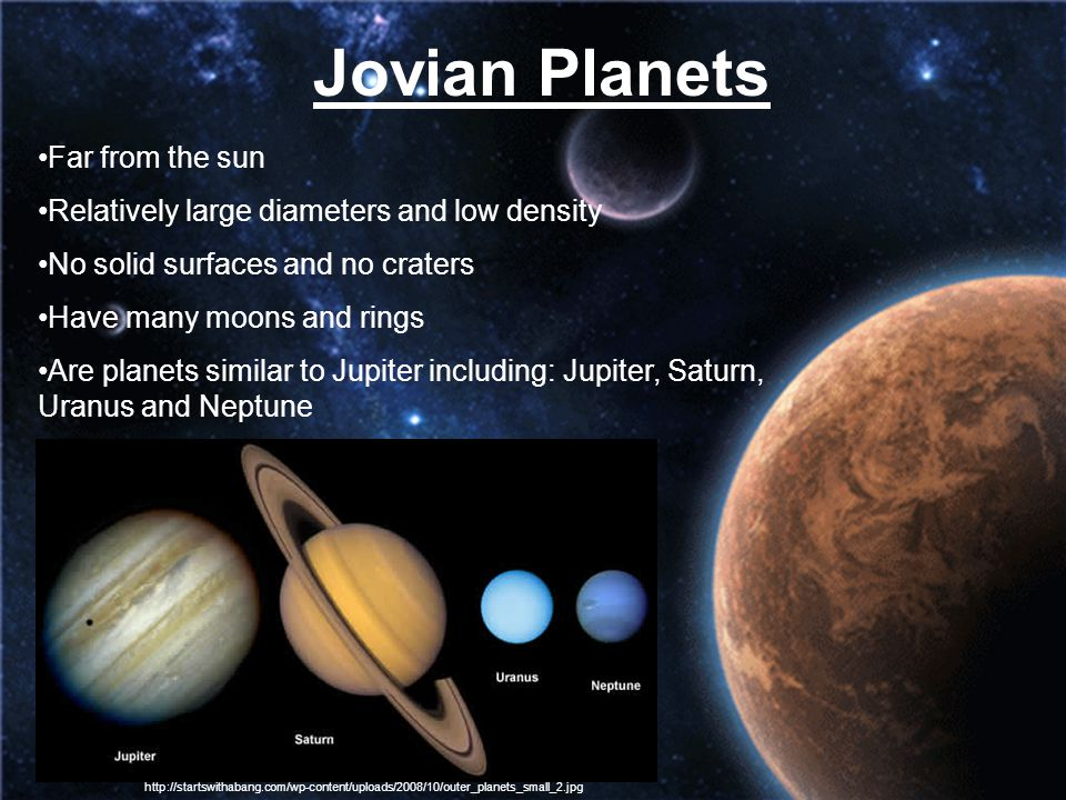 Jovian Planets Far from the sun