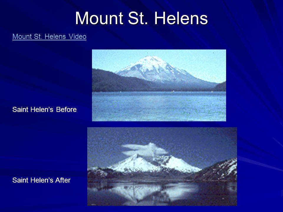 Mount St. Helens Mount St. Helens Video Saint Helen's Before