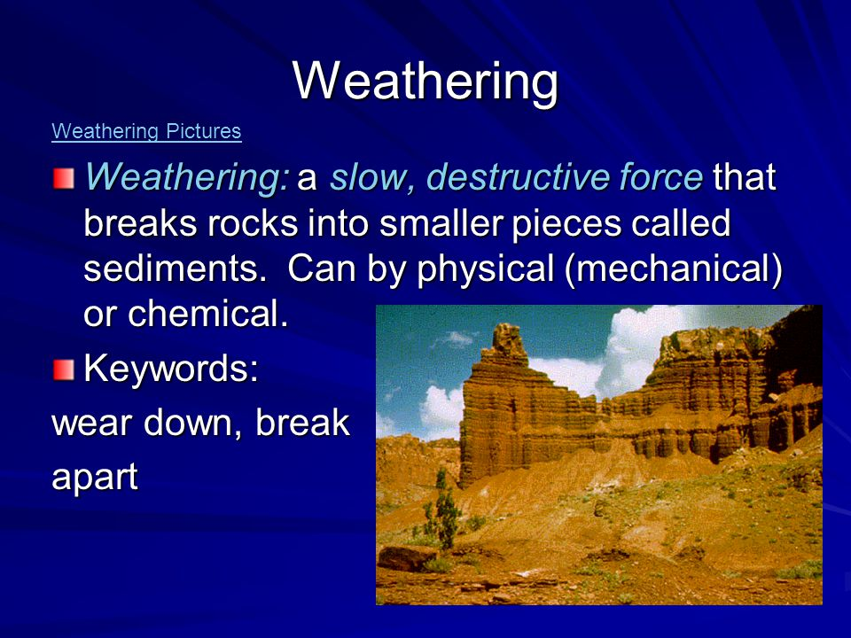 Weathering Weathering Pictures.