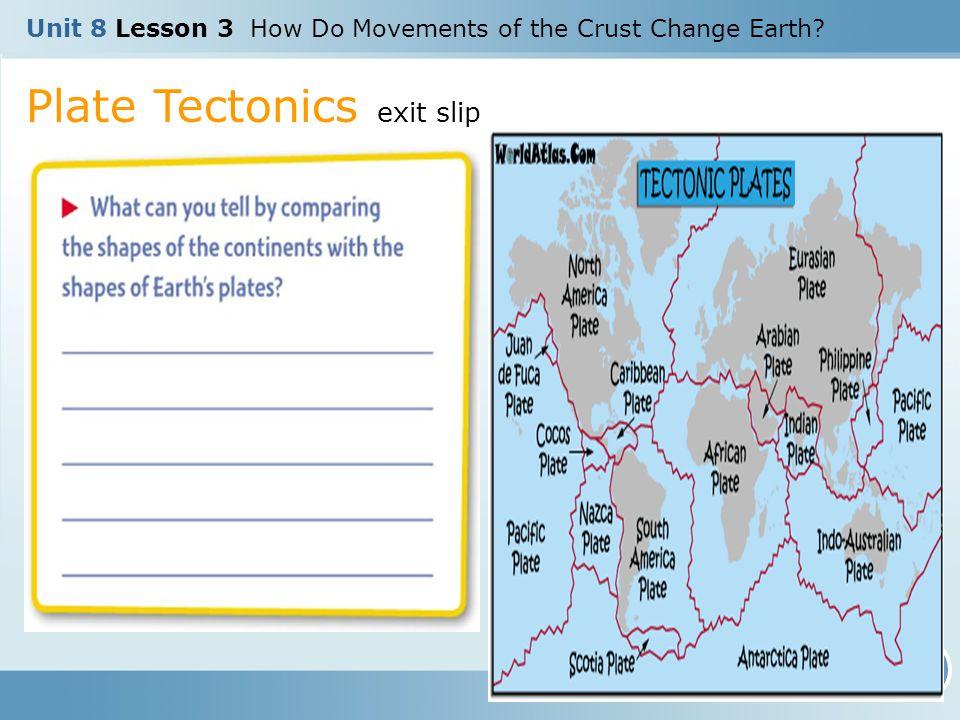 Plate Tectonics exit slip
