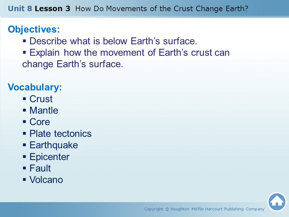 Describe what is below Earth's surface.