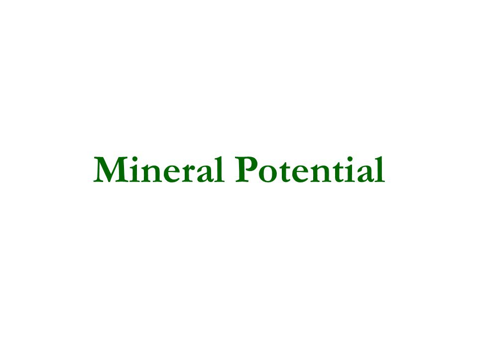 Mineral Potential