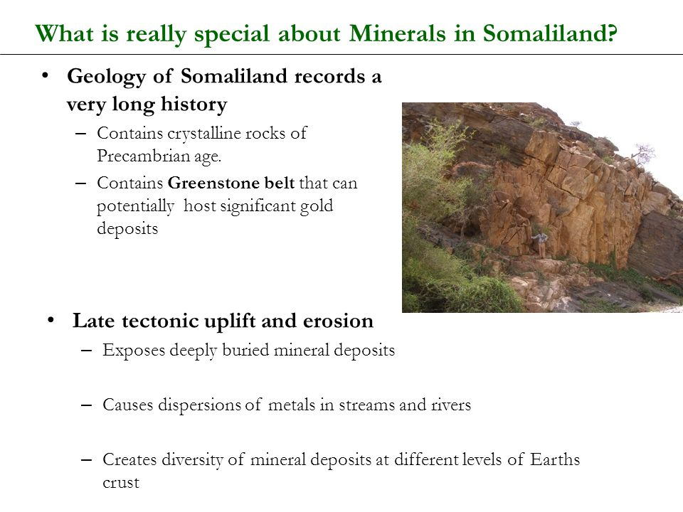 What is really special about Minerals in Somaliland
