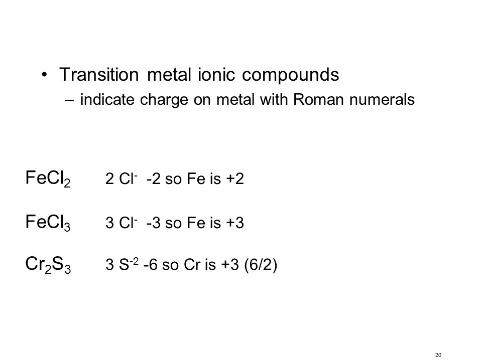 Transition metal ionic compounds