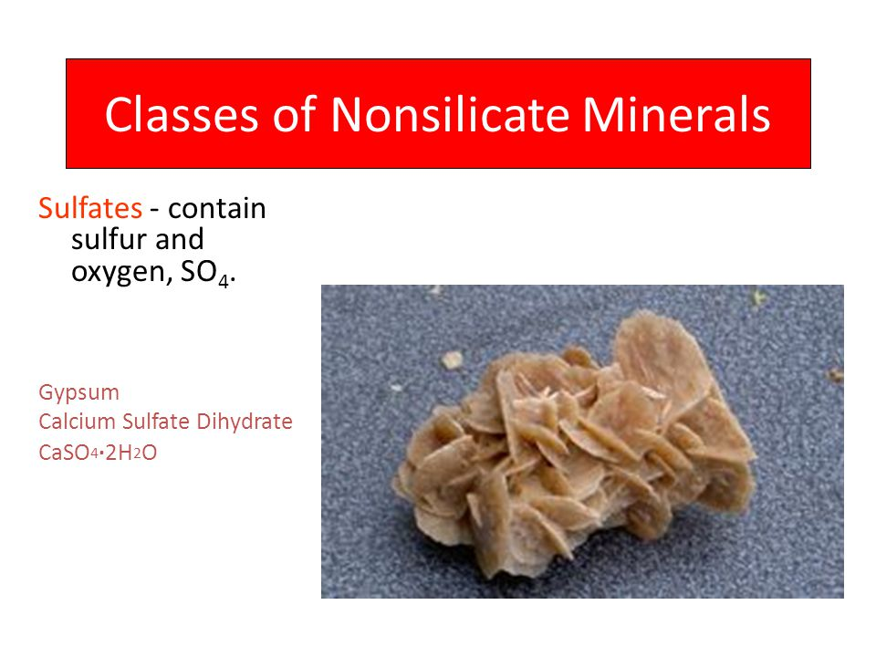 Classes of Nonsilicate Minerals