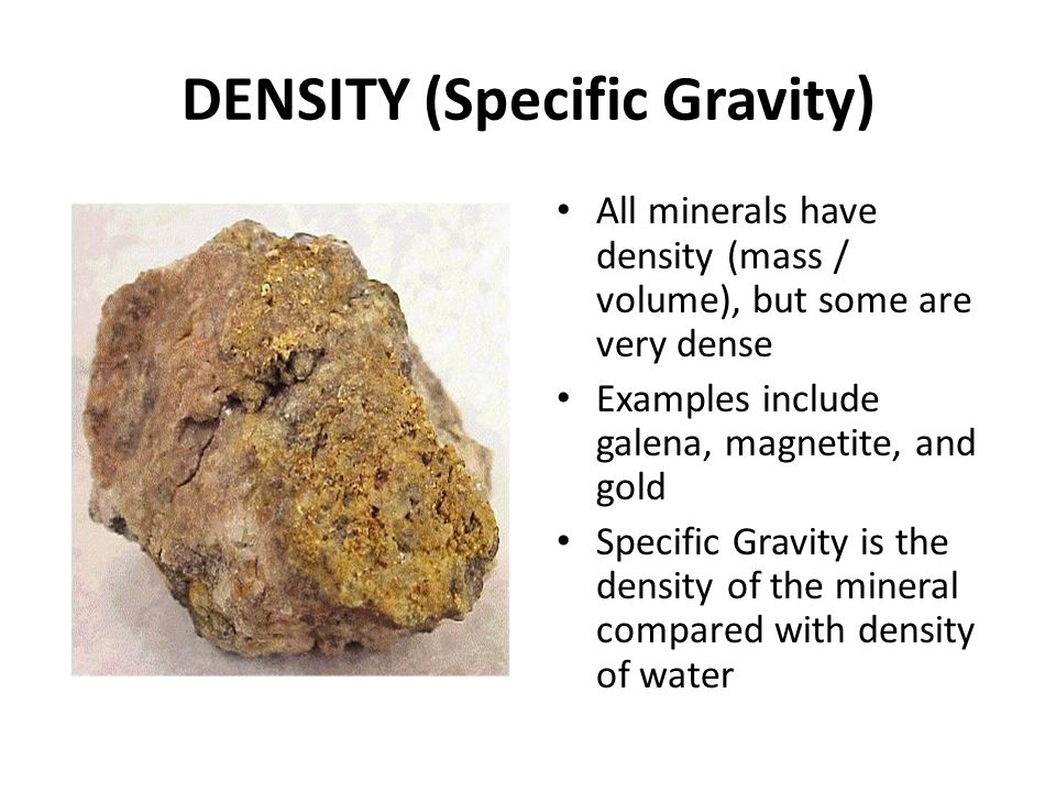 DENSITY (Specific Gravity)