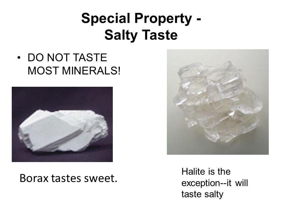 Special Property - Salty Taste