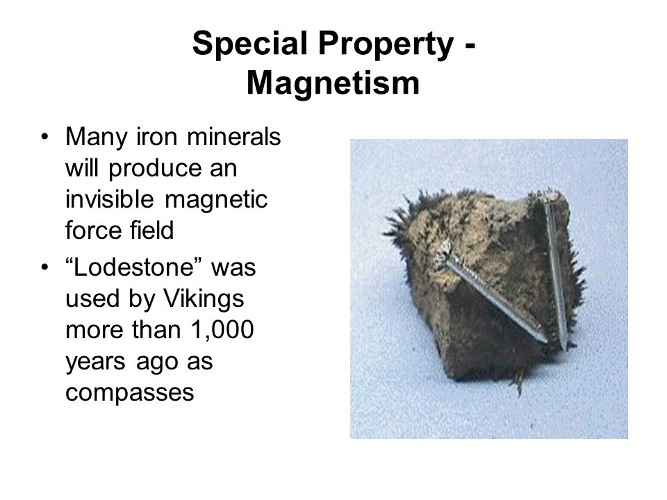 Special Property - Magnetism