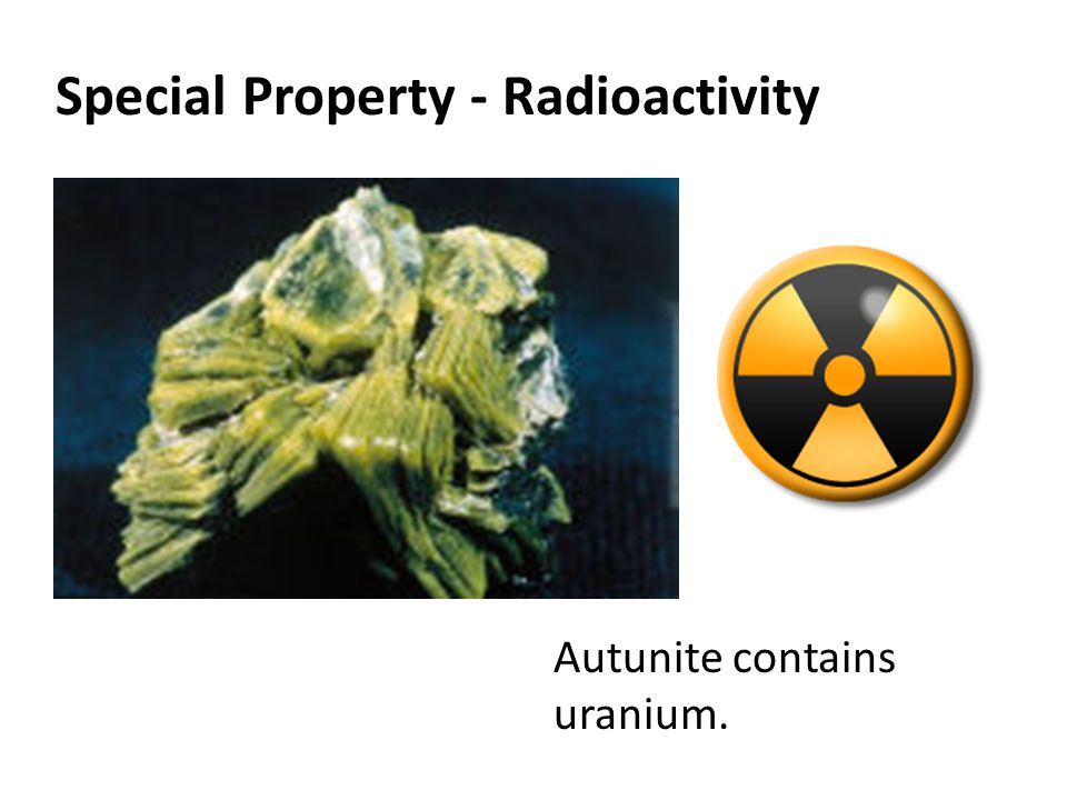 Special Property - Radioactivity