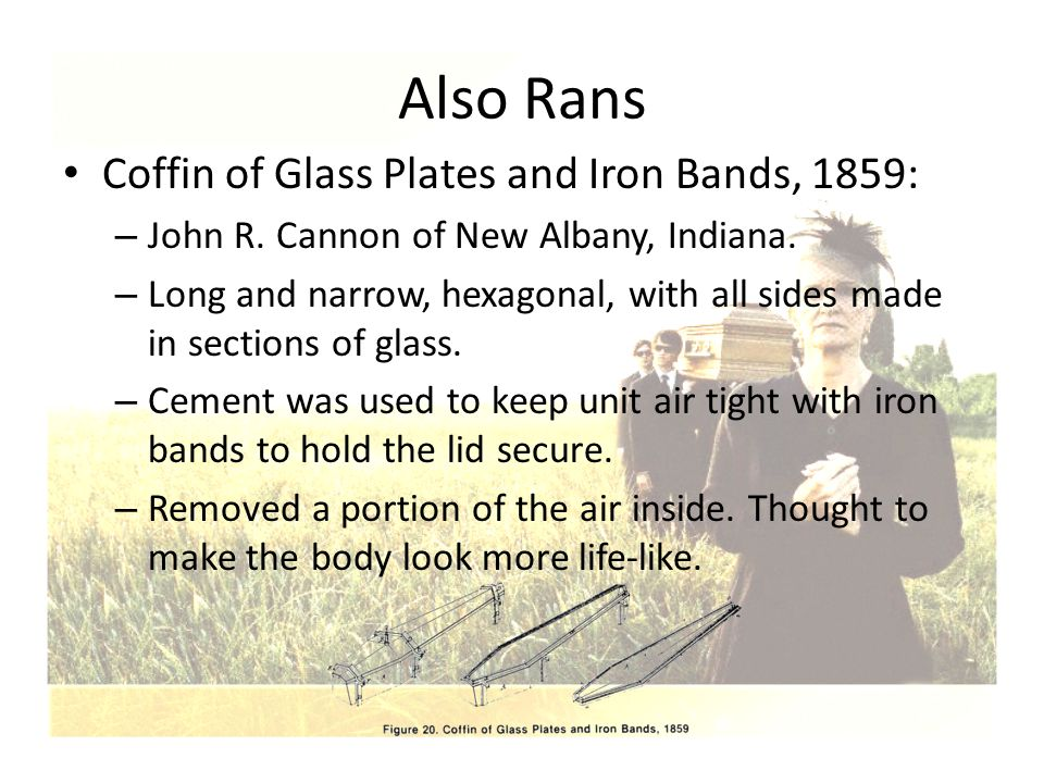 Also Rans Coffin of Glass Plates and Iron Bands, 1859: