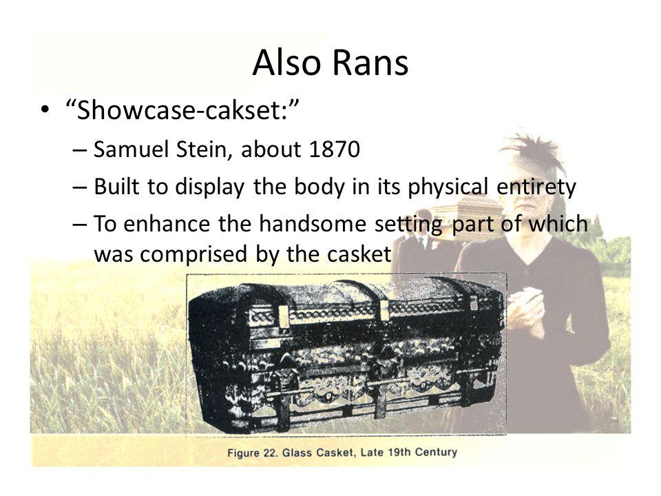 Also Rans Showcase-cakset: Samuel Stein, about 1870