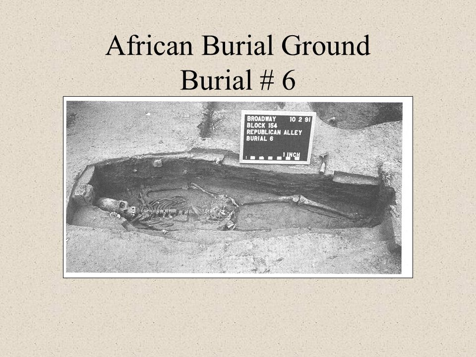 African Burial Ground Burial # 6