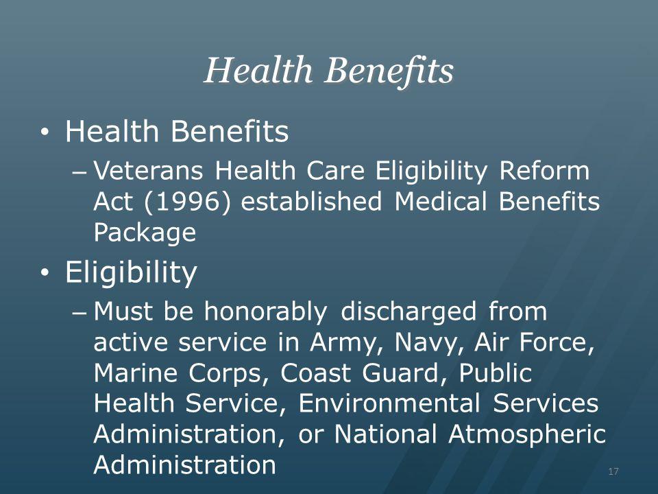 Health Benefits Health Benefits Eligibility