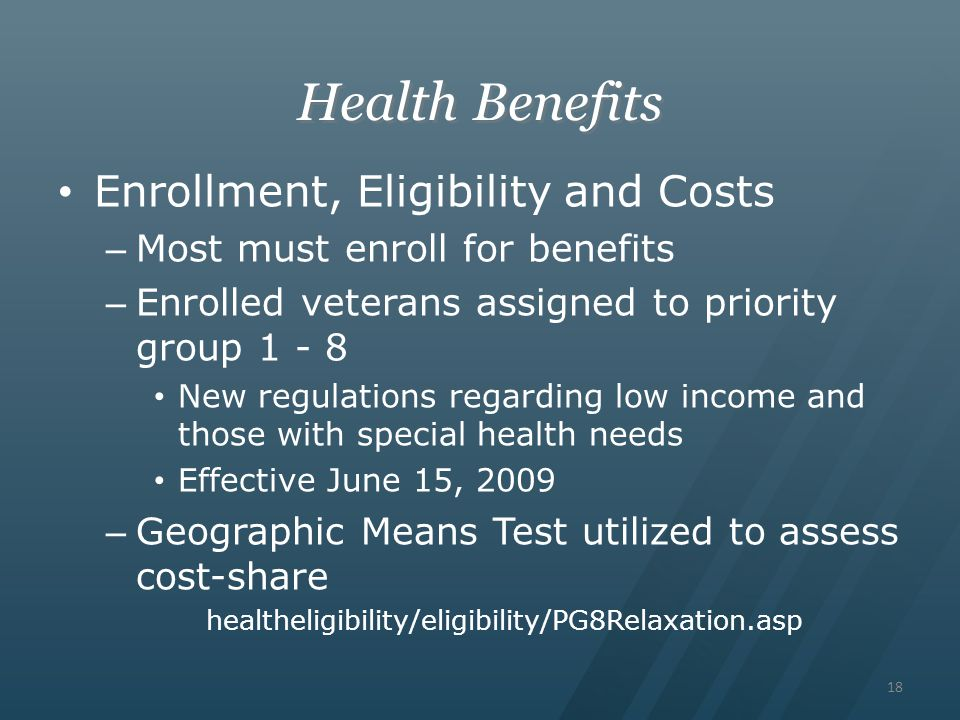 Health Benefits Enrollment, Eligibility and Costs
