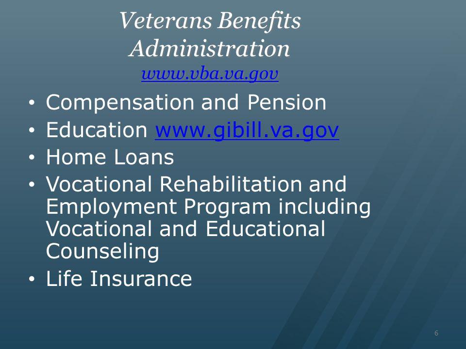 Va 101 basic training for understanding the department of veterans 6 veterans benefits administration sciox Gallery