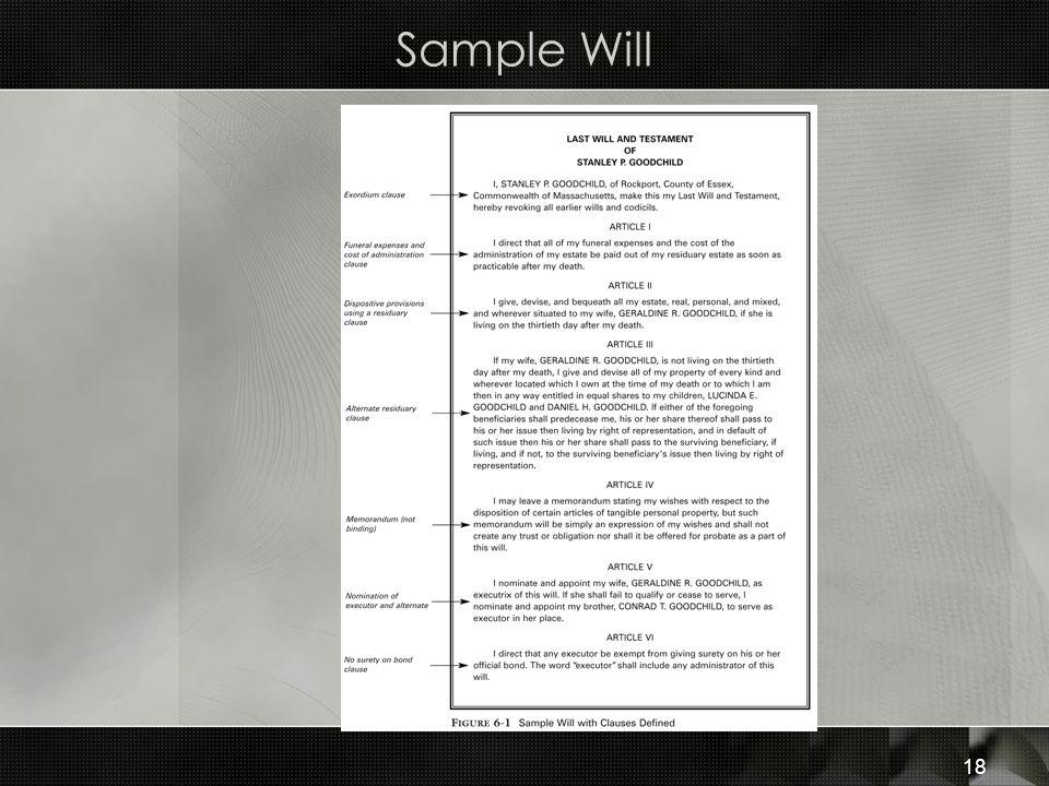 Sample Will