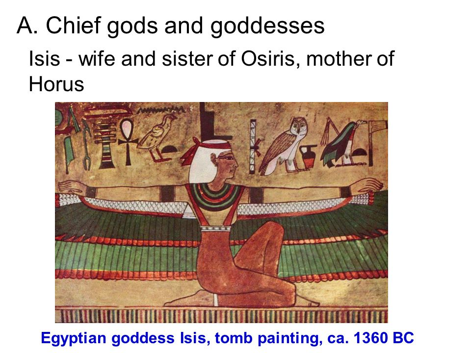 Egyptian goddess Isis, tomb painting, ca. 1360 BC