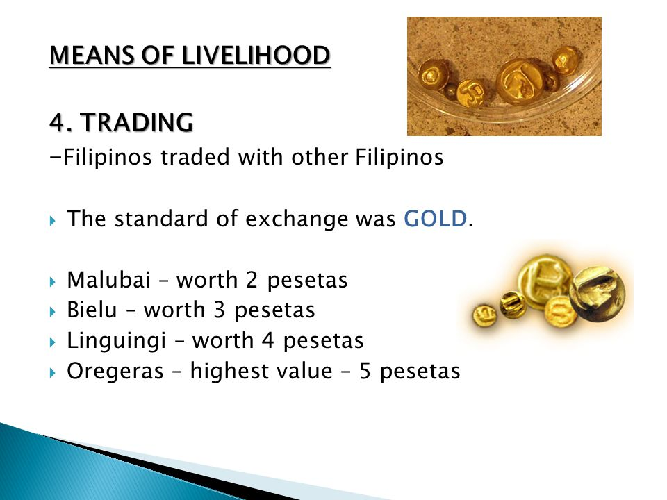 -Filipinos traded with other Filipinos