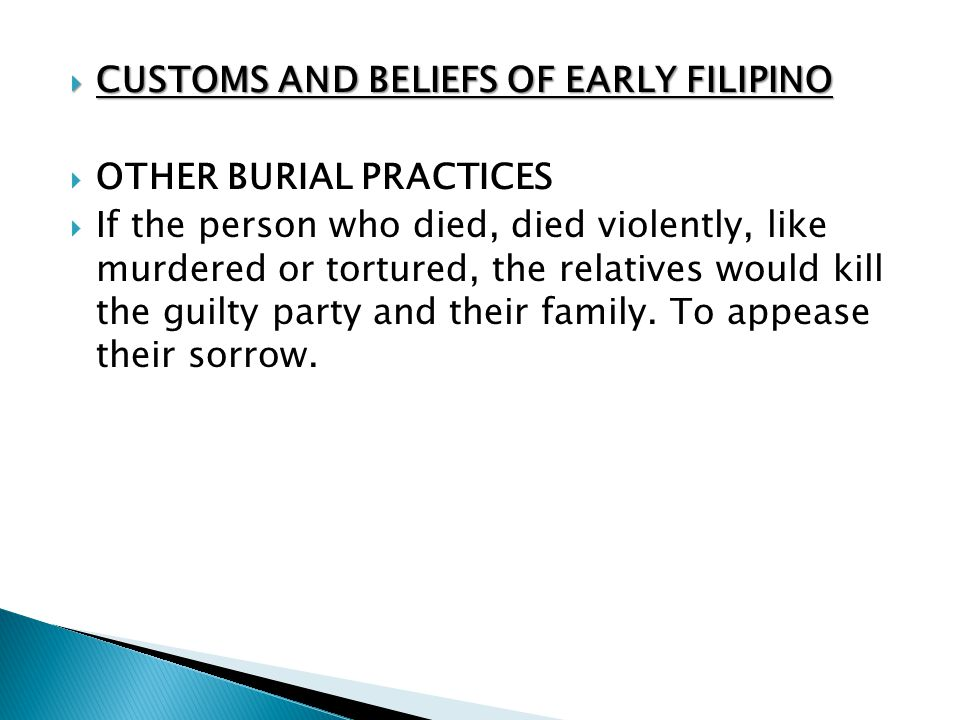 CUSTOMS AND BELIEFS OF EARLY FILIPINO