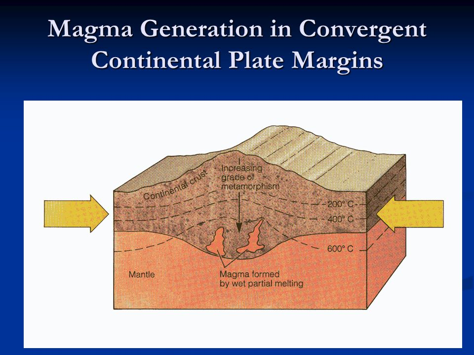 Magma Generation in Convergent Continental Plate Margins