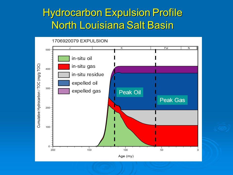 Hydrocarbon Expulsion Profile North Louisiana Salt Basin