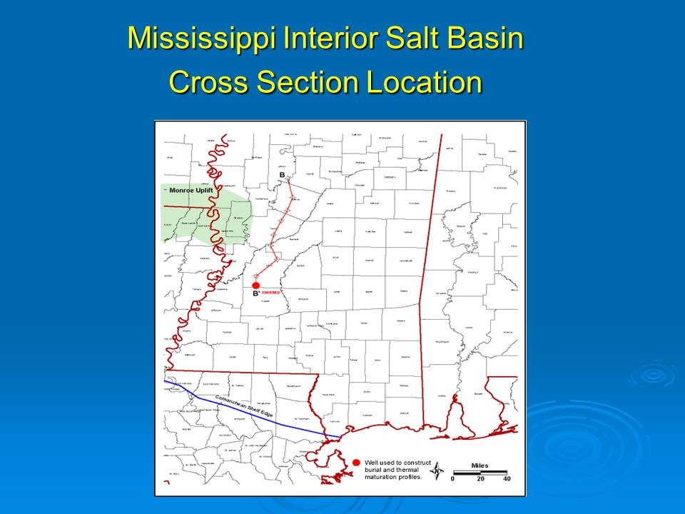 Mississippi Interior Salt Basin Cross Section Location