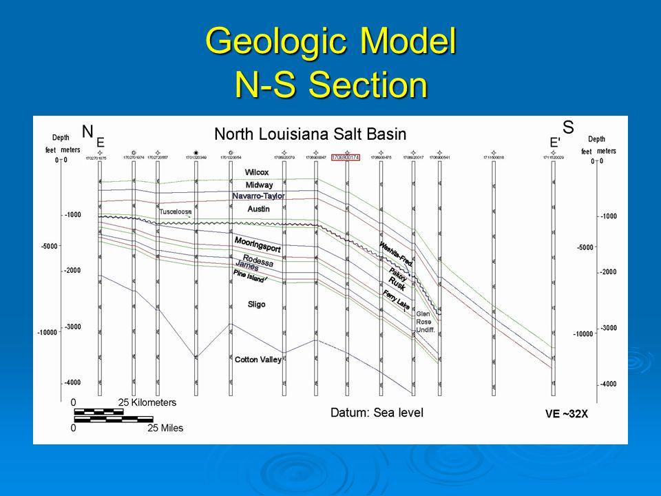 Geologic Model N-S Section