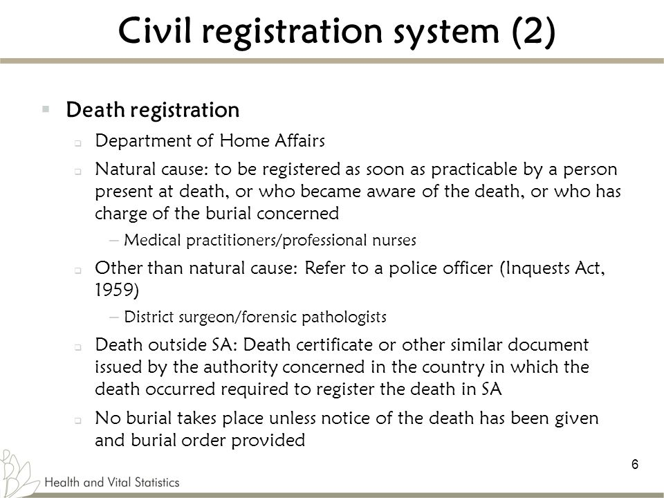 Civil registration system (2)