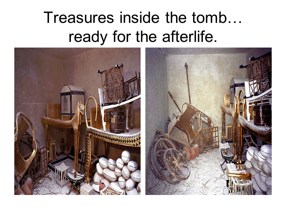 Treasures inside the tomb… ready for the afterlife.