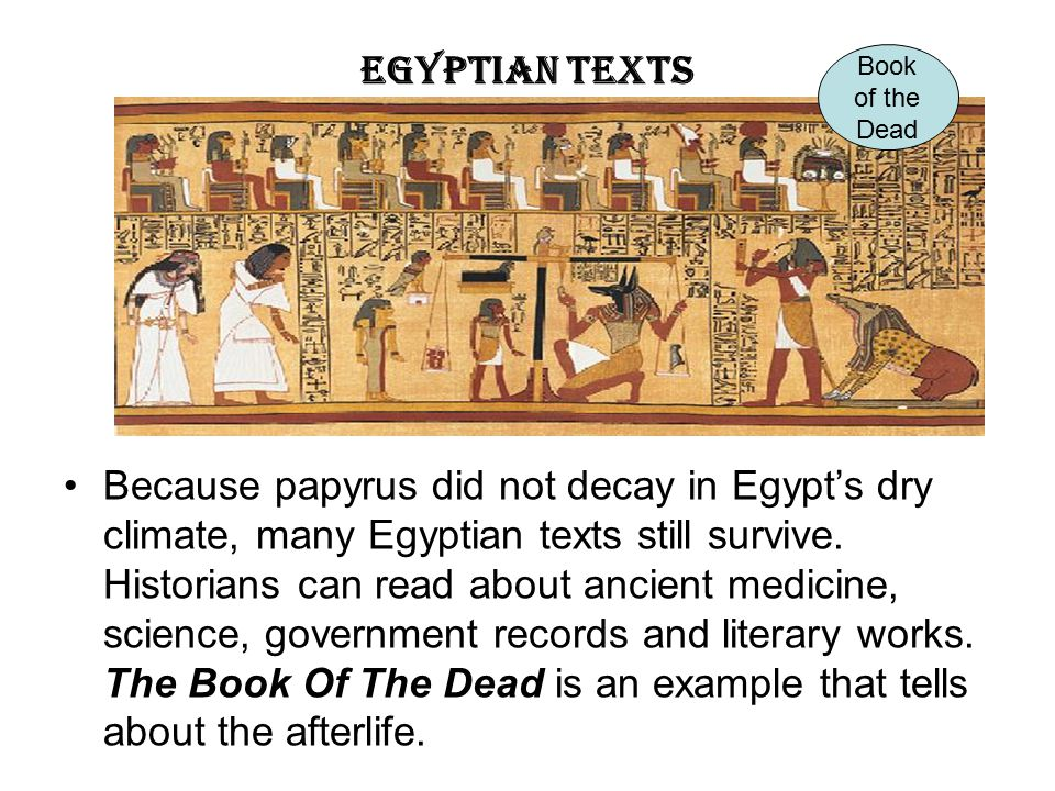 Egyptian Texts Book. of the. Dead.