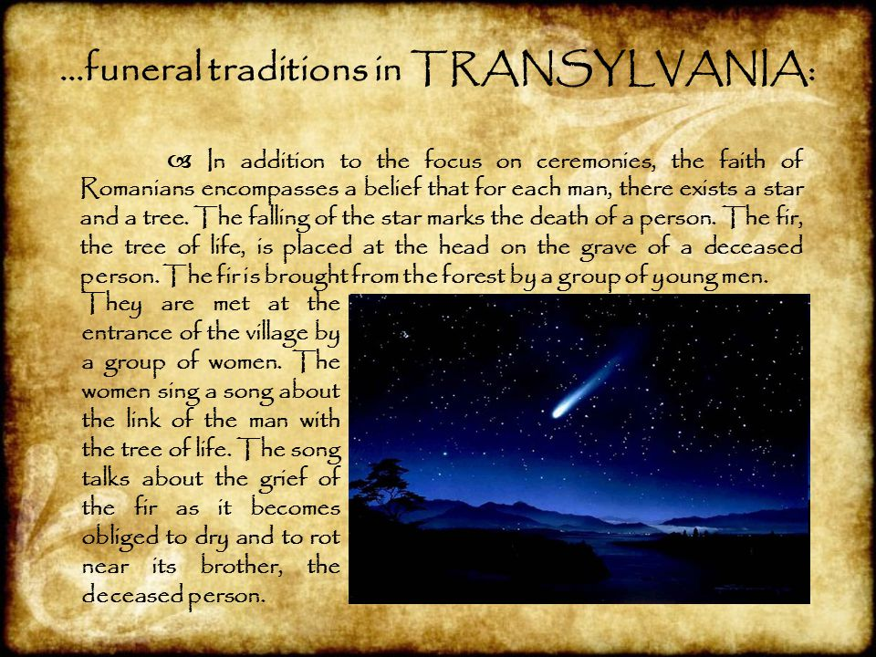 …funeral traditions in TRANSYLVANIA: