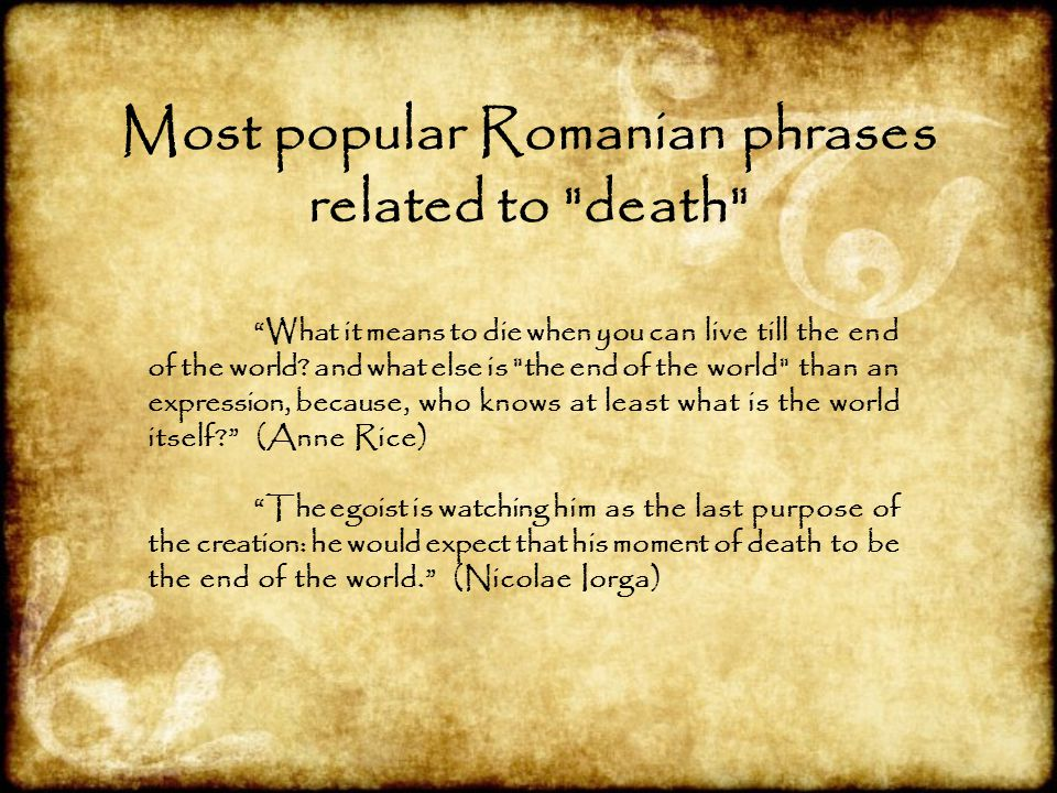 Most popular Romanian phrases related to death