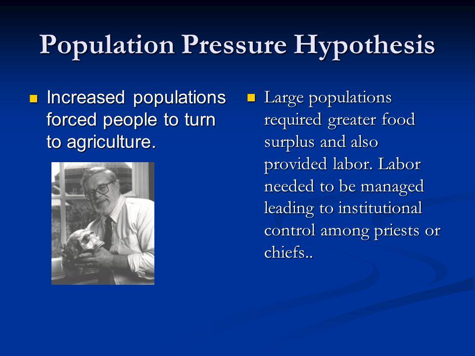 Population Pressure Hypothesis