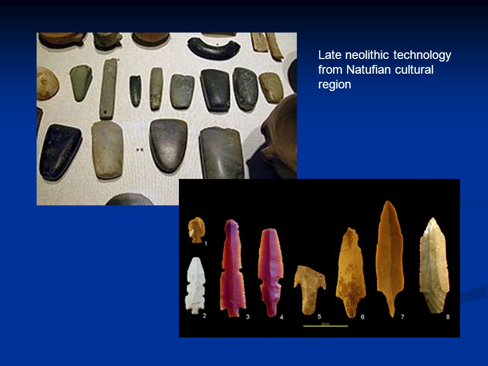 Late neolithic technology from Natufian cultural region