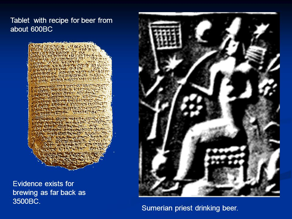 Tablet with recipe for beer from about 600BC