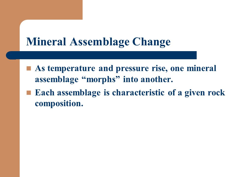Mineral Assemblage Change