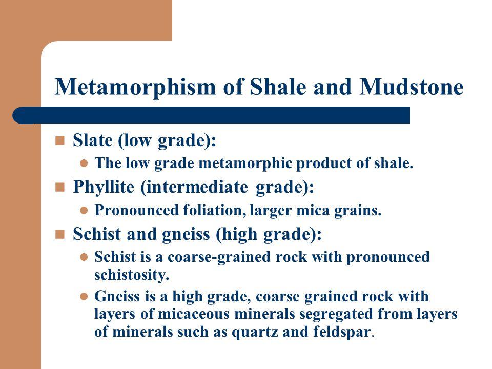 Metamorphism of Shale and Mudstone