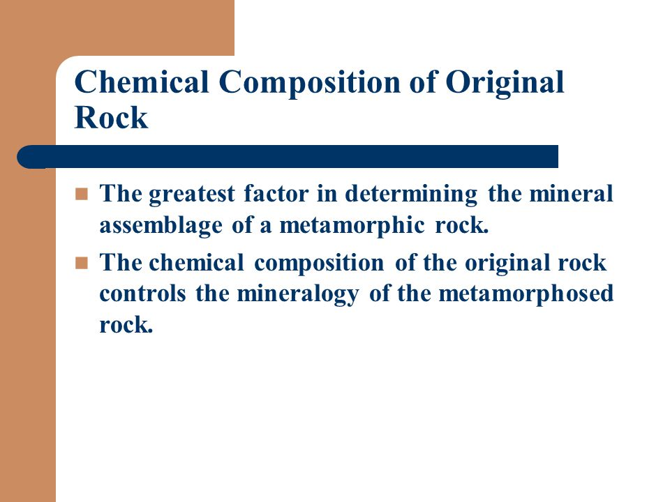 Chemical Composition of Original Rock
