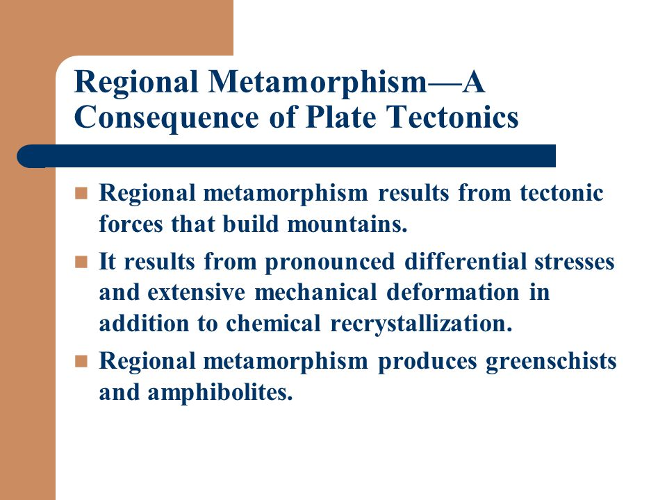 Regional Metamorphism—A Consequence of Plate Tectonics