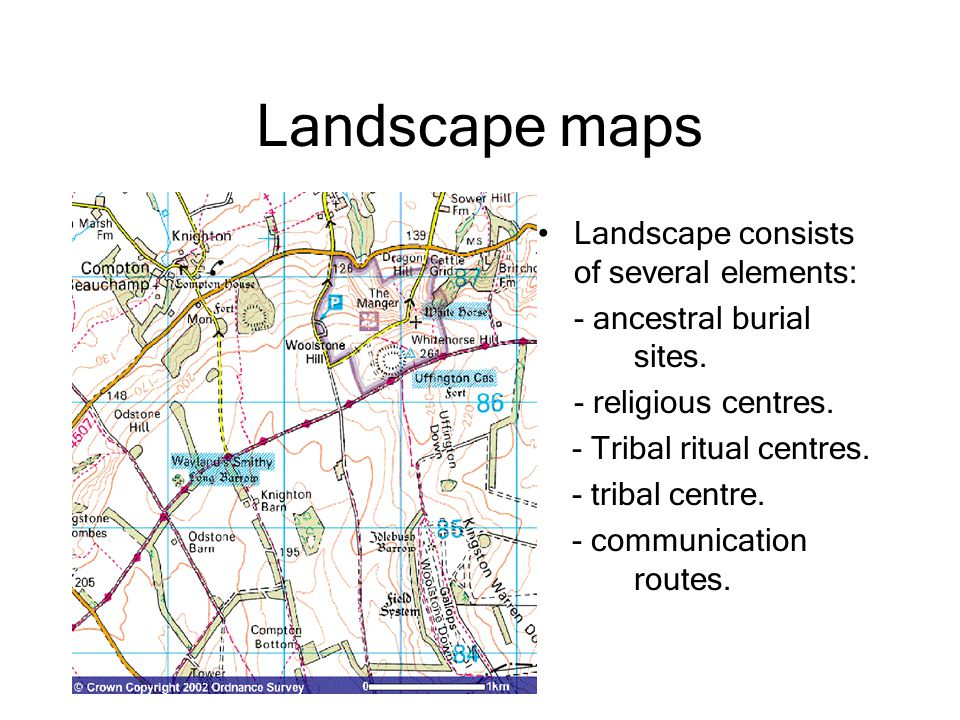 Landscape maps Landscape consists of several elements: