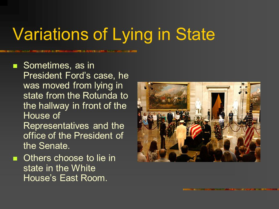 Variations of Lying in State