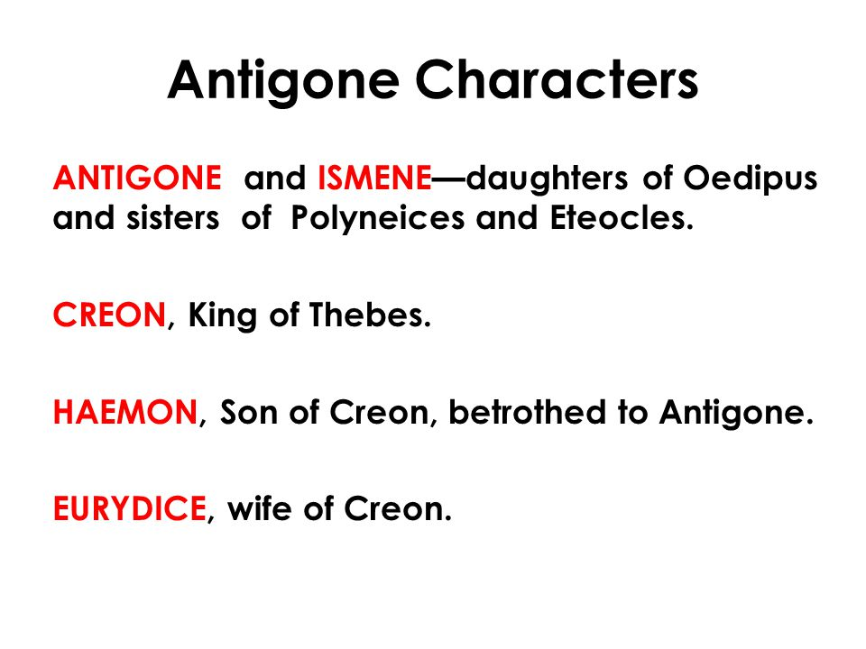 Antigone Characters