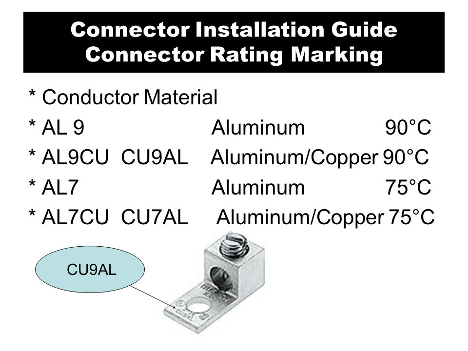 Connector Installation Guide Connector Rating Marking