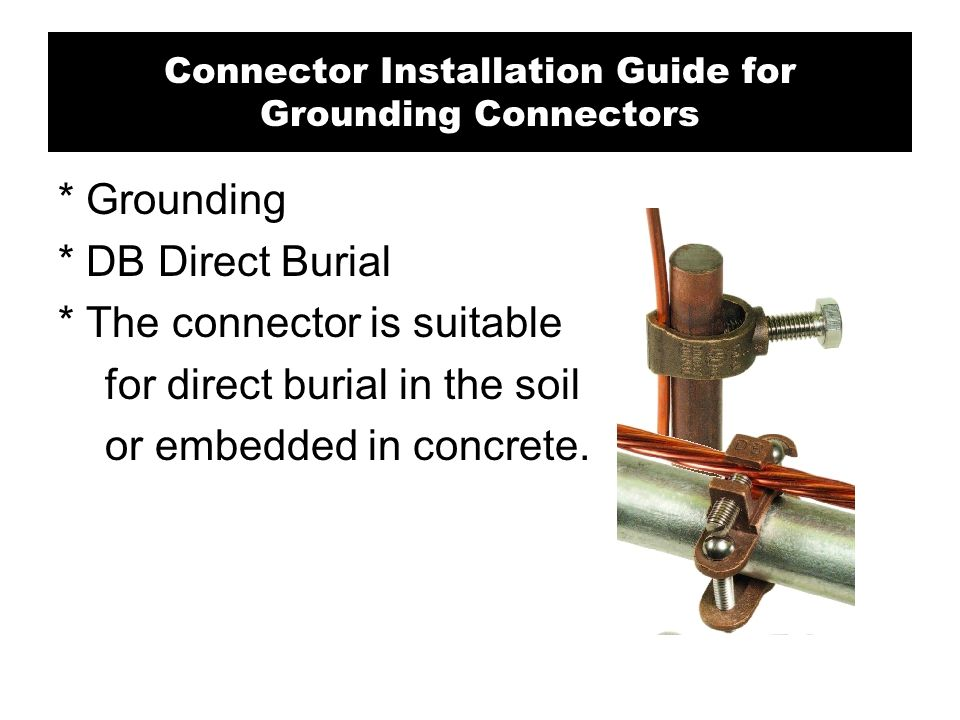 Connector Installation Guide for Grounding Connectors