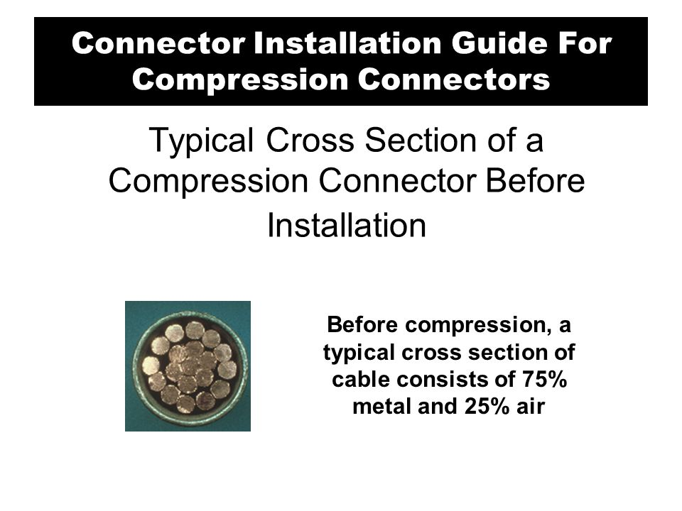 Typical Cross Section of a Compression Connector Before Installation